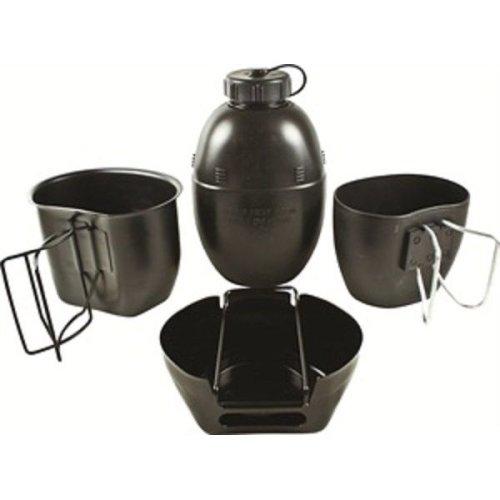 BCB CN010B Crusader Cooking System Black 4 Piece