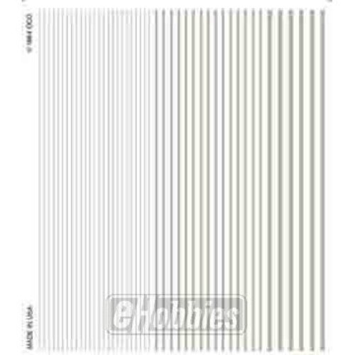 Stripes white Dry Transfer Decals Woodland Scenics