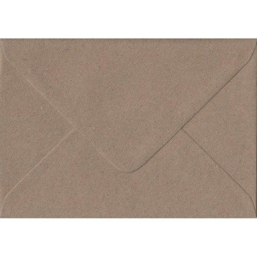 Fleck Kraft Gummed C5/A5 Coloured Brown Envelopes. 110gsm FSC Sustainable Paper. 162mm x 229mm. Banker Style Envelope.