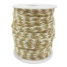 Jute/White 2 Piece x 32 Feet - 8mm Gift Packing String DIY Arts Decor Jute Twine