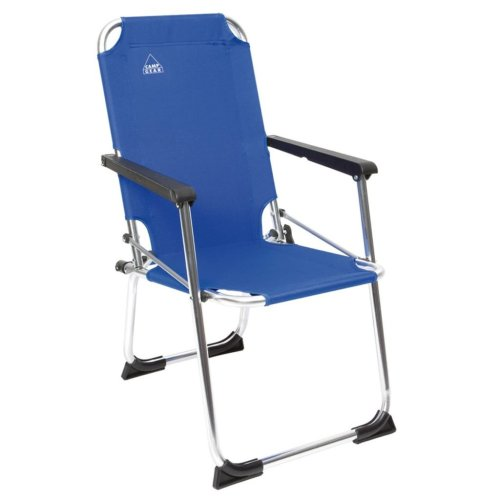 Camp Gear Folding Camping Chair for Kids Blue Aluminium 1211932