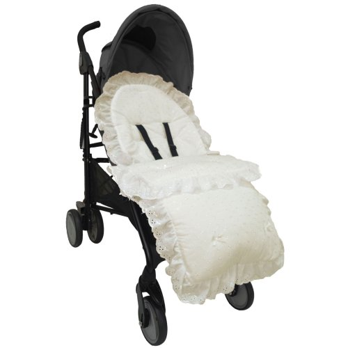 Broderie Anglaise Footmuff / Cosy Toes/ Cost Toes Gypsy/ Romany Pushchairs - Cream
