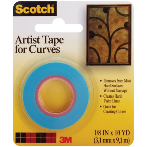 """Scotch Artist Tape For Curves-.125""""X10yd"""