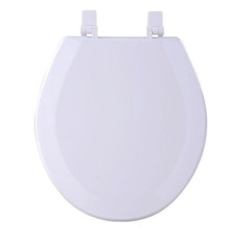 Fantasia White Standard Wood Toilet Seat, 17 in.