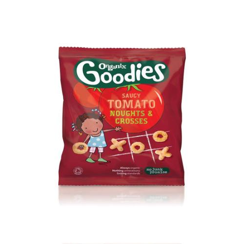 Organix Goodies Snacks Spicy O's & X's 15g