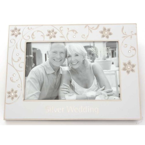 "Silver Wedding 25th Anniversary 6"" x 4"" Photo Frame"