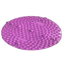 Round Foot Massager Therapy Mat Foot Massage Pad Shiatsu Sheet [Purple]