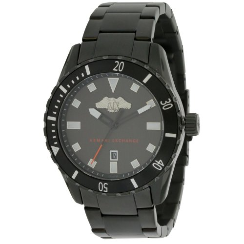 Armani Exchange Black Stainless Steel Mens Watch AX1702