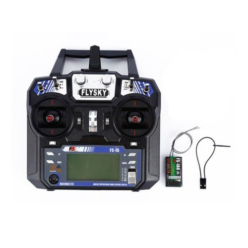 (Mode 2 (Left Hand Throttle)) FlySky FS-i6 2.4G 6CH AFHDS RC Radio Transmitter With FS-iA6 Receiver for FPV RC Drone