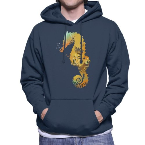 Seahorse Treasure Men's Hooded Sweatshirt