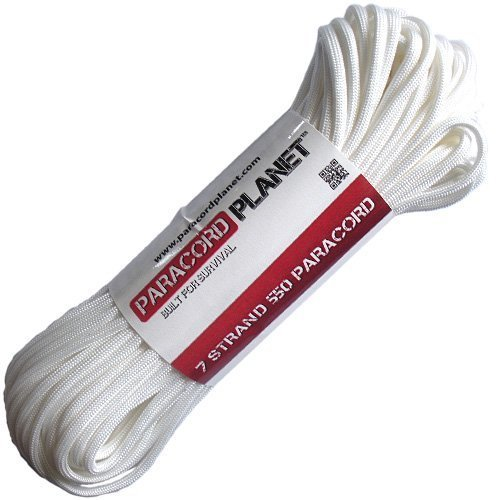 Paracord Planet Mil Spec Commercial Grade 550lb Type III Nylon Paracord White