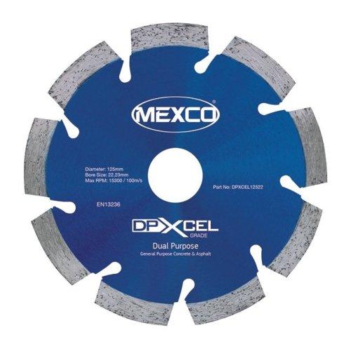 Mexco DPXCEL 125mm Dual Purpose Abrasive Diamond Blade