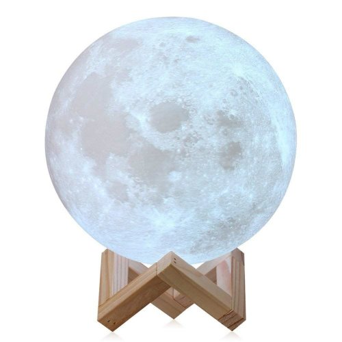 Knight 18cm 3D Space Moon Lamp Lunar Night Light USB Charging Touch Control