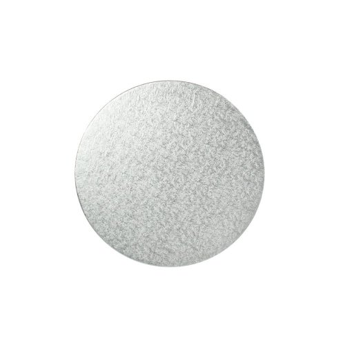 "9"" Thin Silver Round Cake Board 3mm Thick"