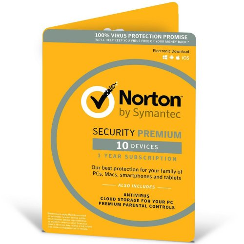 Symantec Norton Security Premium 3.0 - 1 User 10 Devices