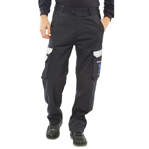 """Click CARC4N28T ARC Compliant Flame Retardant Trousers Navy Blue 28"""" Tall"""