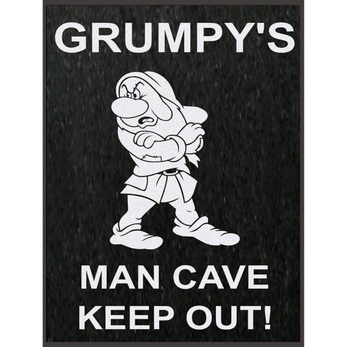 Grumpy's Man Cave Metal Tin Wall Plaque Novelty Gift