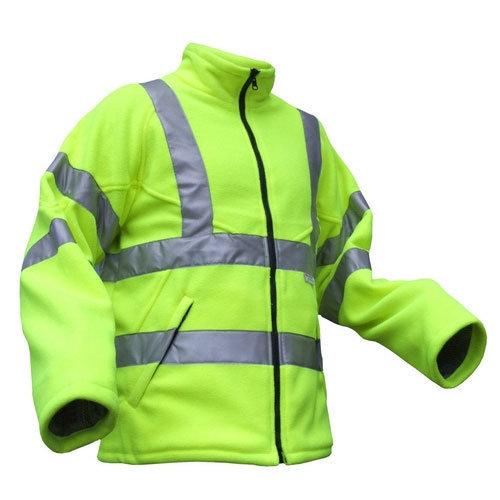 Click CARFSYXXL Hi Vis Yellow Carnoustie Fleece Jacket XXL