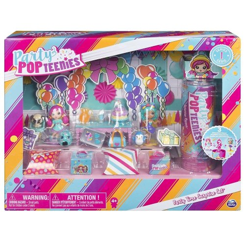 Party Popteenies - Party Time Surprise Set Playset Girls Doll Toy