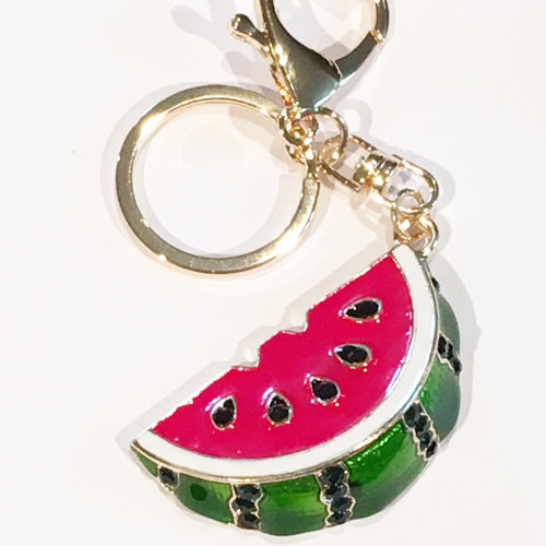 Watermelon Fruit Crystal Diamante Rhinestone Bag Charms Handbag Keyrings  Pendant Key Chain on OnBuy c9503b248