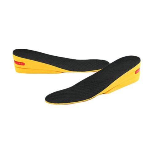 Comfortable 2-Layer 5 cm Height Increase Insole Shoes Pad for Men, Black
