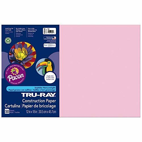 Pacon Tru Ray Construction Paper 12 Inches by 18 Inches 50 Count Pink 103044