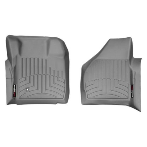 WeatherTech 461201 Custom Front Floor Liner for 2008-2010 Ford F250 Super Duty, Gray
