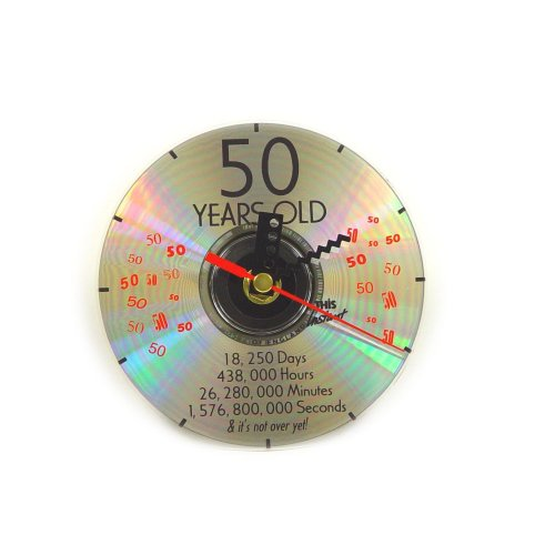 CD Clock 50th Years Old