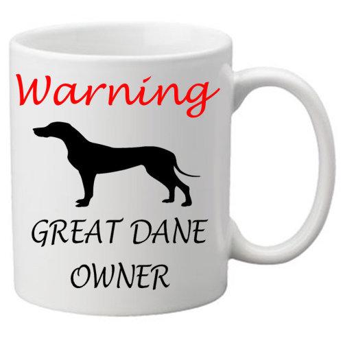 Warning Great Dane Owner Mug Cute Birthday Gift For A Dog Lover Novelty 11oz Mugs On OnBuy