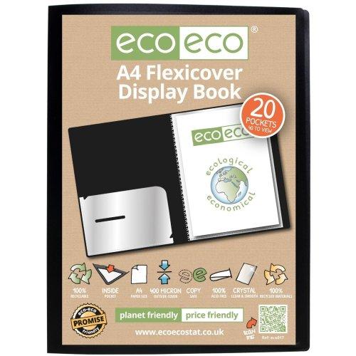 1 x A4 Flexicover 20pkt (40 Views) Presentation Display Book - Black