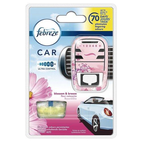 Febreze Blossom & Breeze Scented Car Air Freshener Vent Clip-On Starter Kit, 7ml