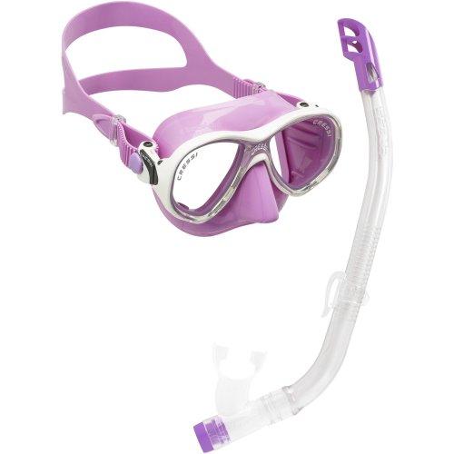 Cressi Kids' Premium Snorkeling - White/Lilac