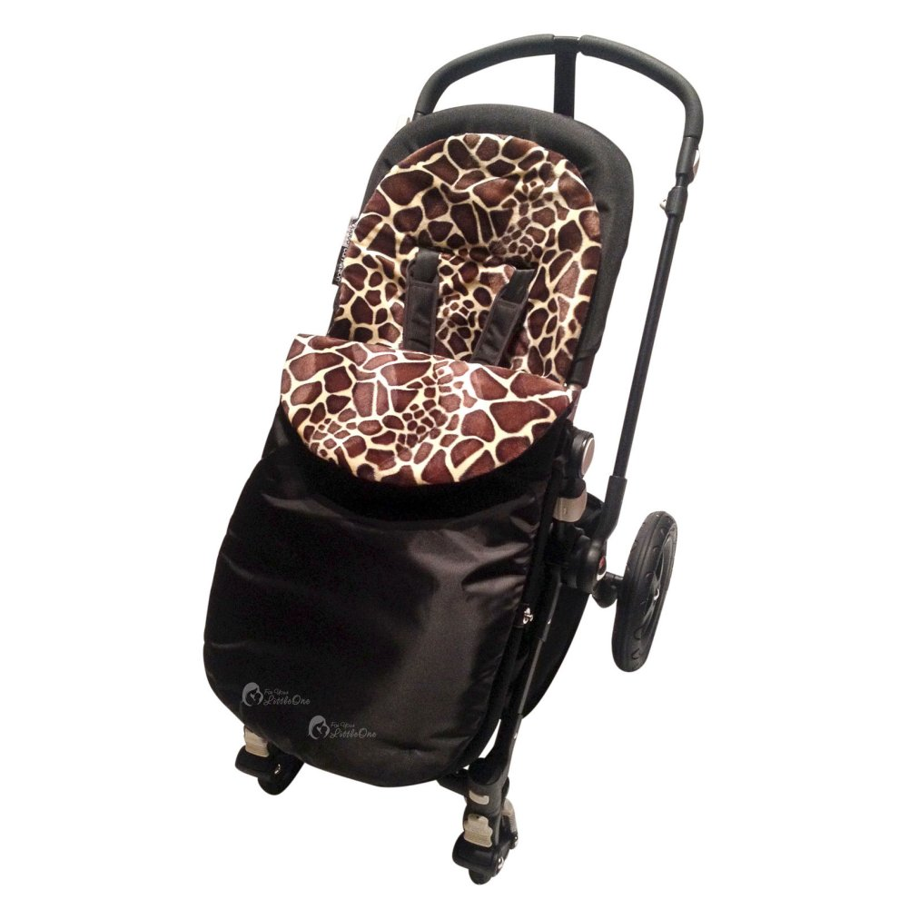 Animal Print Padded Footmuff Cosy Toes Compatible With Uppababy Vista Cruz G Luxe Giraffe