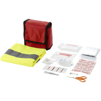 Bullet 18 Piece First Aid Kit And Professional Safety Vest