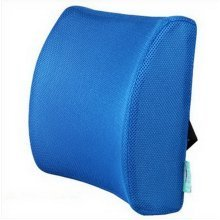 Upgrade Slow Rebound Memory Space Car Office Chair Lumbar Lower Ache(Blue Cover)