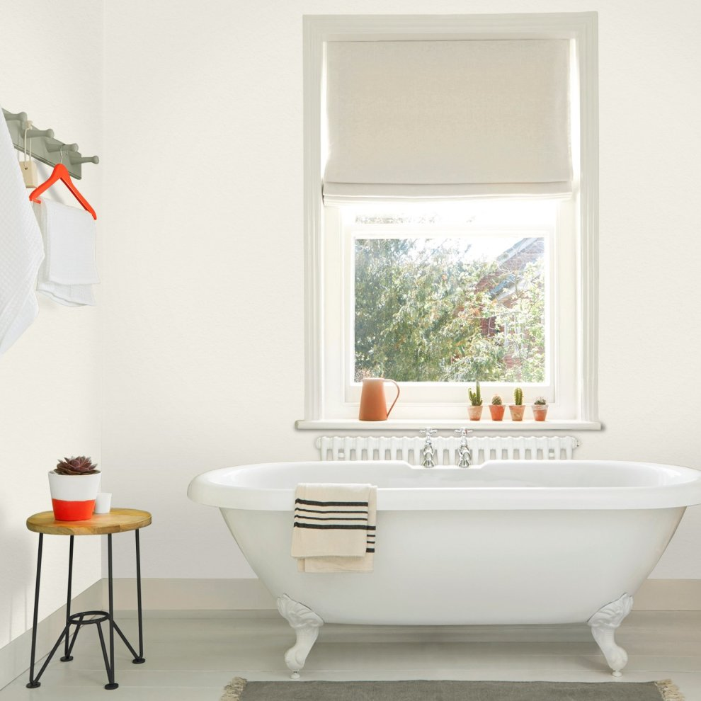 Dulux Easycare Bathroom Plus Soft Sheen Paint Jasmine White 2 5 Litre 6