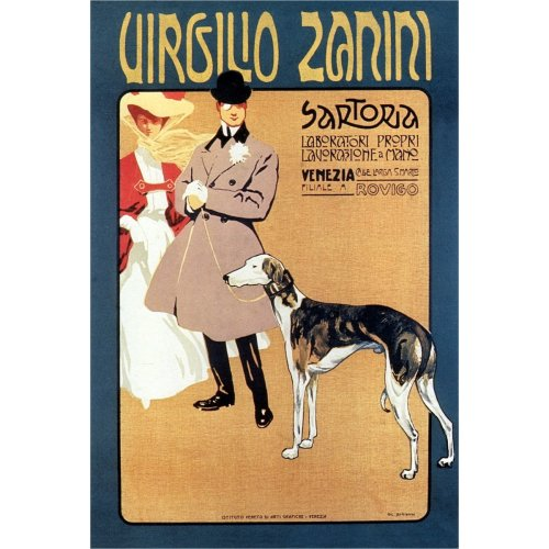 Advertising poster - Sartoria Virgilio Zanini - High definition printing on stainless steel plate
