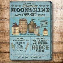 Moonshine - Colourful Metal Dangler - Mini Hanging Sign
