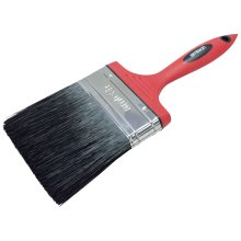 "100mm (4"") No Bristle Loss Paint Brush - Soft Handle -  loss paint brushes decorating 4 amtech soft handle set straight angled 05 1 15 2 25 3 100mm"