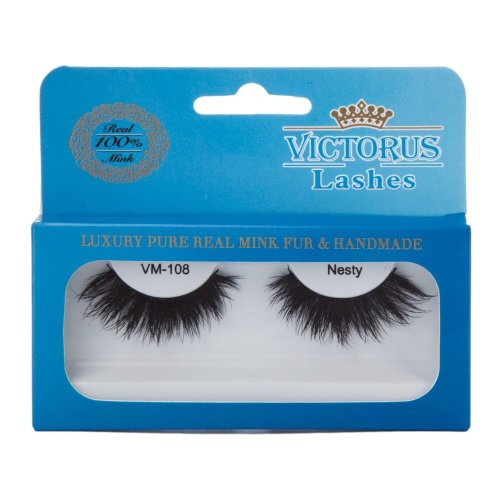 Victorus Strip Lashes VM-108 NESTY Real Mink False Lashes