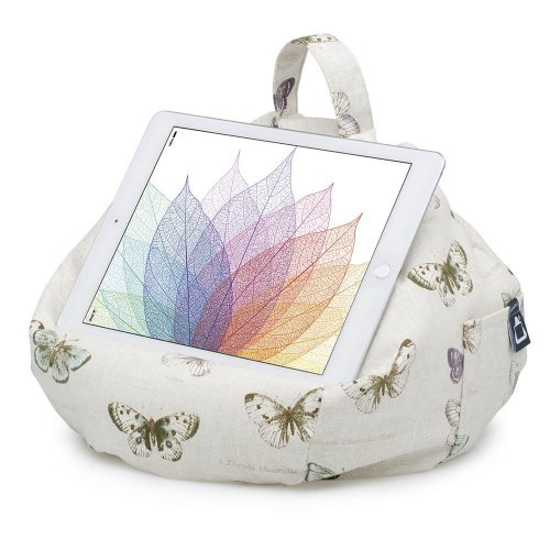 iBeani iPad & Tablet Stand/Bean Bag Cushion Holder for All Devices/Any Angle on Any Surface - Butterfly Chic