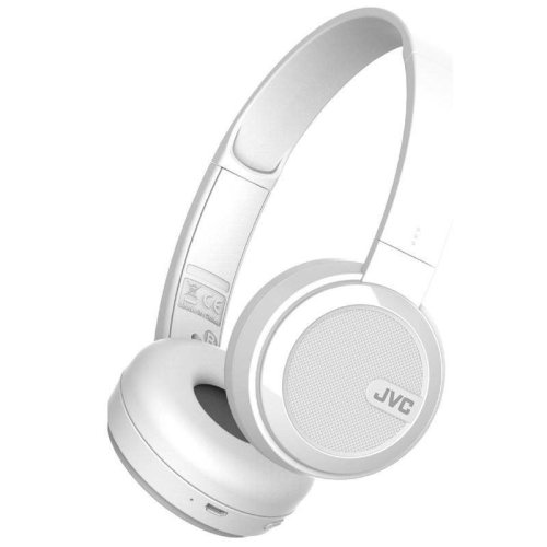 JVC Foldable Bluetooth On Ear Headphones - White (Model No. HAS40BTWE)