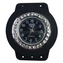 Loomey Time Black Bling Single Watch with Sparkly Jewels