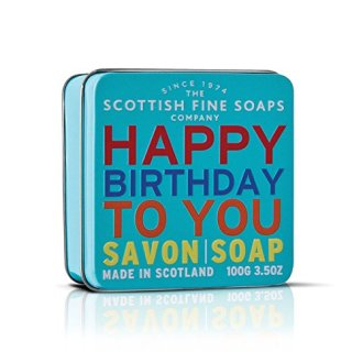 Scottish Fine Soaps Finest Triple Milled Soap for Women, Happy Birthday To You, 3.5 Ounce