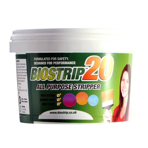 Biostrip 20 Paint Stripper 500ml, paint remover. Water based solution to effortlessly remove paint and varnish from Wood, Brick, Concrete, Metal,...
