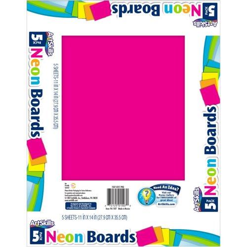 "Posterboard 11""X14"" 5/Pkg-Neon"
