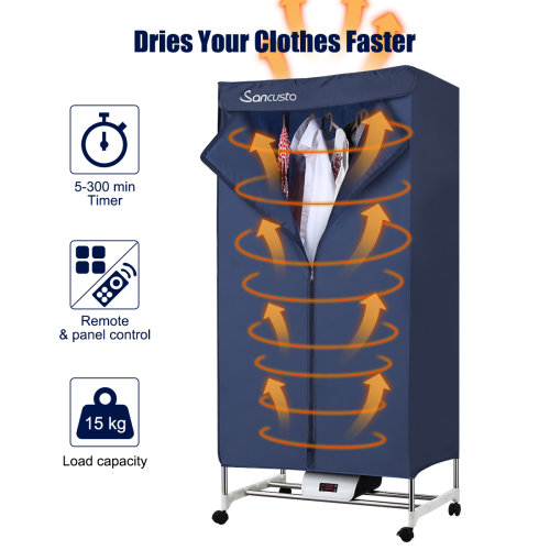 Indoor Portable Electric Clothes Dryer Home Dorm Hot Air Machine 1000W