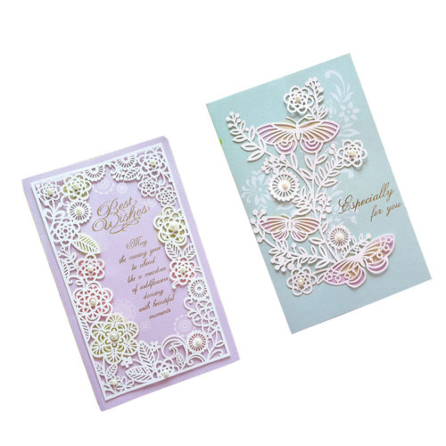 Set of 10 Cards And Envelopes Thank You Greeting Card Assortment,Purple&Green