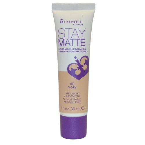 Rimmel London Stay Matte Liquid Mousse Foundation Shine Control 30ml Ivory #100