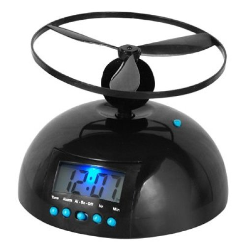 DIGIFLEX Flying Helicopter Novelty Alarm Clock
